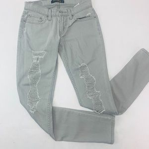 Levis 524 Womens Jeans 3 Med Gray Too Superlow